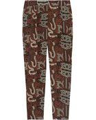 Maiyet Silk-Crepe Batik Straight-Leg Pants - Lyst