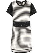 Sea Lace-Paneled Striped Cotton-Jersey Dress - Lyst