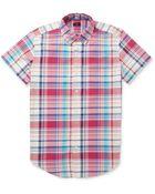 J.Crew Check Cotton Oxford Shirt - Lyst