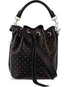 Saint Laurent Small Studded Bucket Bag - Lyst