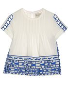 Sea Cutout Embroidered Cotton-Voile Top - Lyst