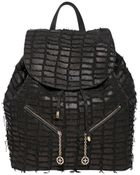 Desmo Carrie Croc Effect Leather Backpack - Lyst