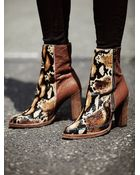 Free People Womens Baroness Heel Ankle Boot - Lyst