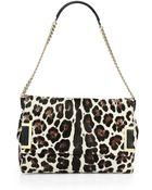 Jimmy Choo Ally Leopardprint Calf Hair Shoulder Bag - Lyst