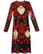 Dolce & Gabbana Embroidered Macramé-Lace Dress - Lyst