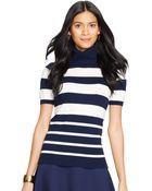 Lauren by Ralph Lauren Short Sleeved Turtleneck Sweater - Lyst