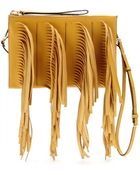 Marni Fringed Leather Clutch - Lyst
