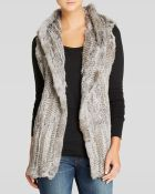 525 America Vest - Knitted Rabbit Fur Hooded - Lyst