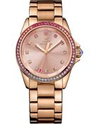 Juicy Couture Women'S Stella Rose Gold-Tone Stainless Steel Bracelet Watch 36Mm 1901207 - Lyst