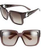Gucci 'Diamantissima' 56Mm Sunglasses - Lyst
