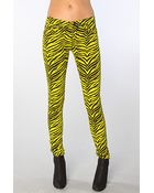 Tripp Nyc The Overdyed Zebra Skinny Pant - Lyst
