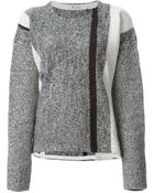 T By Alexander Wang Intarsia Knit Sweater - Lyst