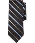 Brooks Brothers Satin Alternating Bar Stripe Tie - Lyst