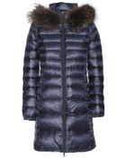 Duvetica Ociroe Down Coat With Fur-Trimmed Hood - Lyst
