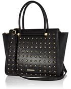 River Island Black Studded Tote Bag - Lyst
