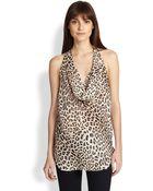 Haute Hippie Silk Leopard-Print Halter Top - Lyst