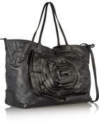 Valentino Rosette-Embellished Leather Shoulder Bag - Lyst