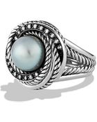 David Yurman Crossover Pearl Ring With Diamonds - Lyst