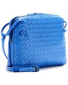 Bottega Veneta Messenger New Light Intrecciato Leather Shoulder Bag - Lyst