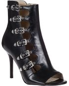 MICHAEL Michael Kors Cassie Ankle Boot Black Leather - Lyst