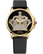 Juicy Couture Women'S Jetsetter Black Silicone Strap Watch 38Mm 1901142 - Lyst