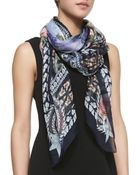 Givenchy Paradise Flowers Silk Scarf - Lyst