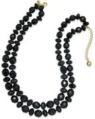 Kate Spade Gold-Tone Beaded Two-Row Necklace - Lyst