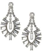 Tom Binns Medium White Crystal Baguette Detail Earrings Medium White Crystal Baguette Detail Earrings - Lyst