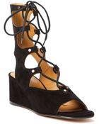 Chloé Gladiator Lace-Up Sandals - Lyst
