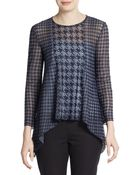 Dior Houndstooth Drape Top - Lyst