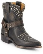 Frye Billy Biker Studded Leather Ankle Boots - Lyst