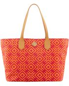 Tory Burch Geometric-Print Canvas Tote Bag - Lyst