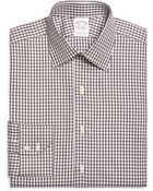 Brooks Brothers Slim Fit Shadow Check Dress Shirt - Lyst