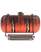 House Of Harlow 1960 Adele Snake-Embossed Clutch - Lyst