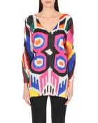 Pleats Please Issey Miyake Abstract-Print Pleated Tunic - Lyst