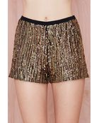 Nasty Gal Flashing Out Sequin Hot Pants - Lyst
