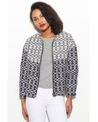 Glassworks Textured Printed Jacket - Lyst