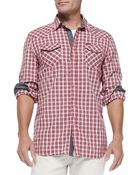 Diesel Check Shirt W/ Contrast Placket & Cuffs - Lyst