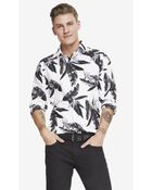 Express Fitted Floral Print Shirt - Lyst