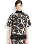 Marc Jacobs Tasseltrimmed Floral Top - Lyst