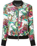 Marco Bologna Flower Print Bomber Jacket - Lyst