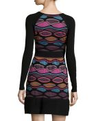 M Missoni Printed Fit & Flare Sweaterdress - Lyst