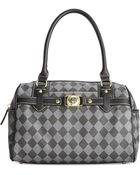 Marc Fisher Check Mate Large Satchel - Lyst