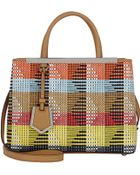 Fendi 2Jours Small Woven Tote - Lyst