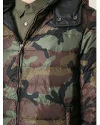 Valentino Camouflage Print Padded Jacket - Lyst