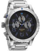 Nixon The 48-20 Chronograph Midnight Gt Watch, 48Mm - Lyst