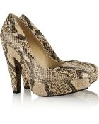 Stella McCartney Snake-Effect Faux Leather Pumps - Lyst