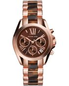 Michael Kors Bradshaw Rose-plated Watch - Lyst