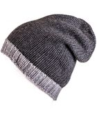 Black.co.uk Two-Tone Grey Cashmere Slouch Beanie - Lyst