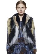 Gucci Embroidered Patchwork Fur Vest - Lyst